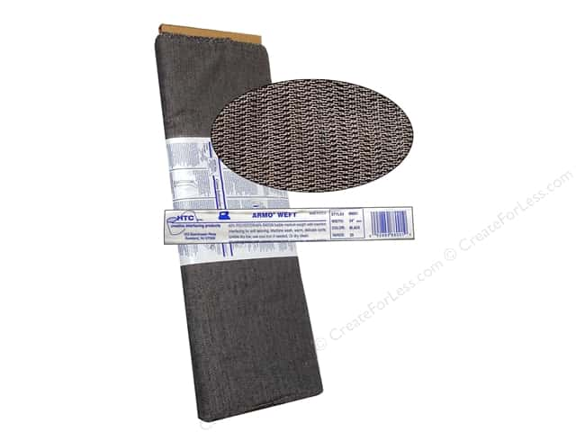 HTC Armo Weft Fusible Interfacing 24 in. Black