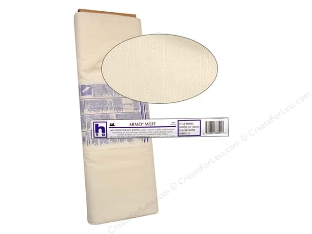 "Handler Fusible Armo Weft Medium Weight Insert White 24"" (25 yards)"