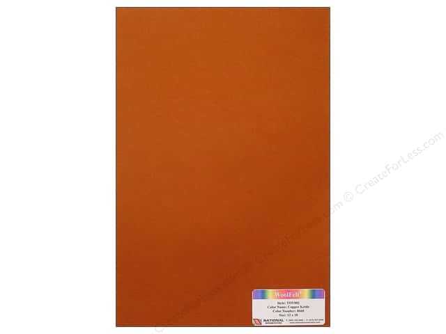 National Nonwovens WoolFelt 12 x 18 in. 35% Copper Kettle (10 sheets)