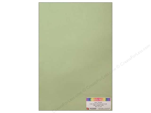 National Nonwovens WoolFelt 12 x 18 in. 35% Pistachio Ice Cream (10 sheets)