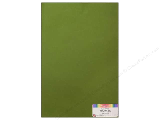 National Nonwovens WoolFelt 12 x 18 in. 35% Moss (10 sheets)