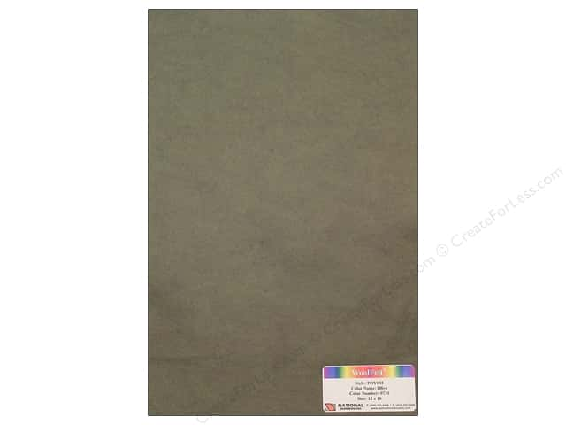 National Nonwovens WoolFelt 12 x 18 in. 35% Olive (12 sheets)