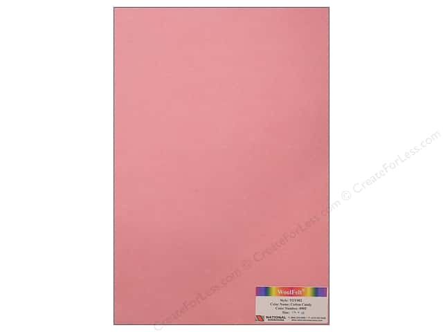 National Nonwovens 35% Wool Felt 12 x 18 in. Cotton Candy (10 sheets)