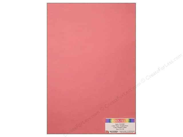 National Nonwovens WoolFelt 12 x 18 in. 35% English Rose (10 sheets)