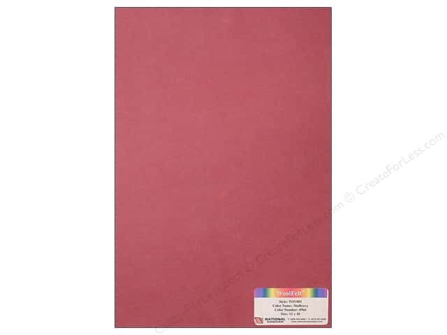 National Nonwovens 35% Wool Felt 12 x 18 in. Mulberry (10 sheets)