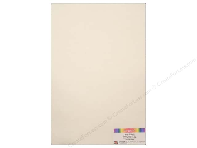National Nonwovens WoolFelt 12 x 18 in. 35% White (10 sheets)