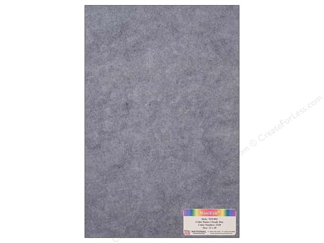 National Nonwovens 35% Wool Felt 12 x 18 in. Cloudy Day (10 sheets)