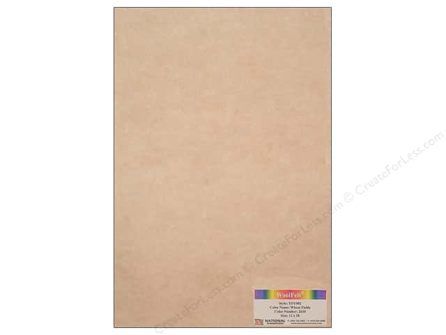 National Nonwovens 35% Wool Felt 12 x 18 in. Wheat Fields (10 sheets)