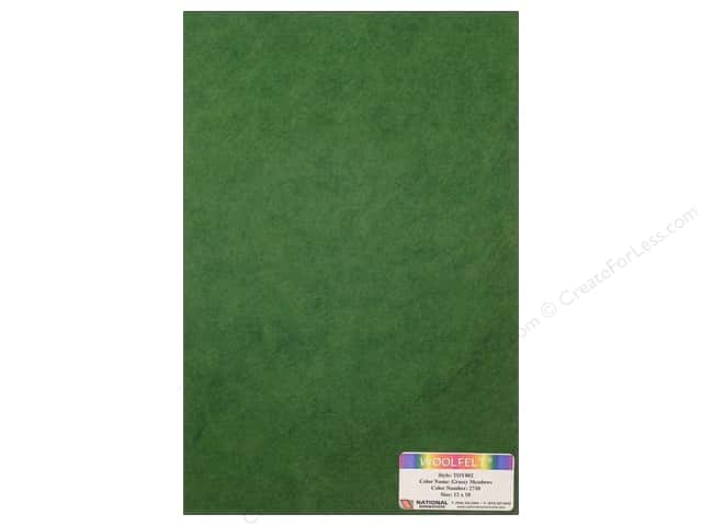 National Nonwovens WoolFelt 12 x 18 in. 35% Grassy Meadows (10 sheets)