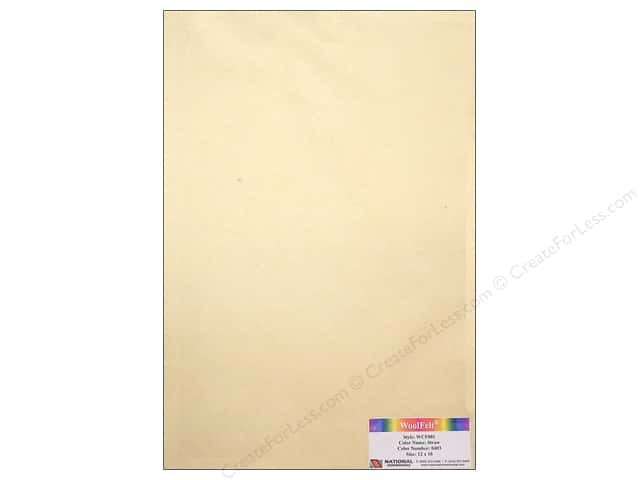 National Nonwovens 20% Wool Felt 12 x 18 in. Straw