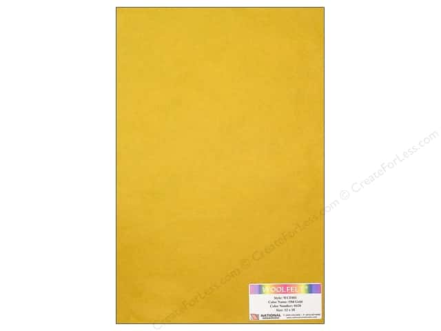 National Nonwovens 20% Wool Felt 12 x 18 in. Old Gold (10 sheets)