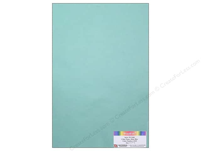 National Nonwovens 20% Wool Felt 12 x 18 in. Baby Blue