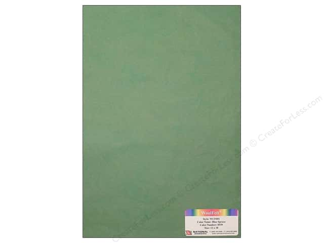 National Nonwovens WoolFelt 12 x 18 in. 20% Blue Spruce (10 sheets)