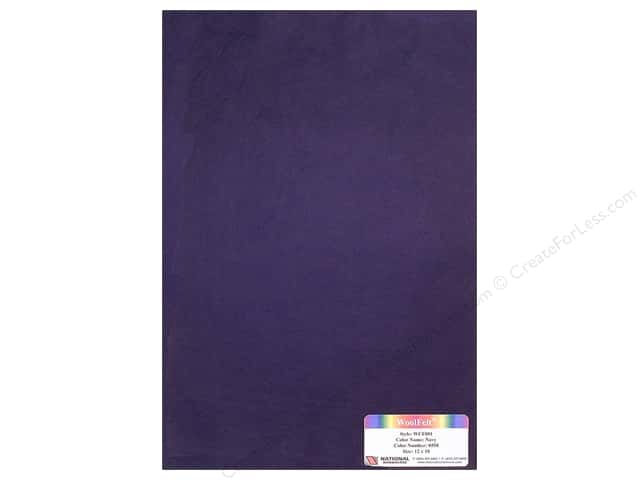 National Nonwovens 20% Wool Felt 12 x 18 in. Navy