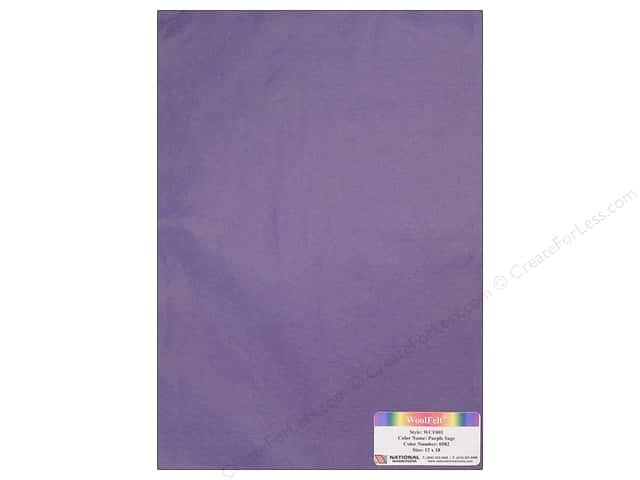 National Nonwovens WoolFelt 12 x 18 in. 20% Purple Sage (12 sheets)
