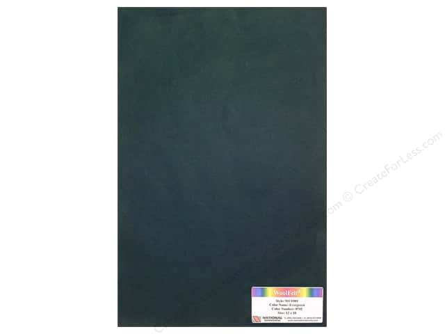 National Nonwovens WoolFelt 12 x 18 in. 20% Evergreen (10 sheets)