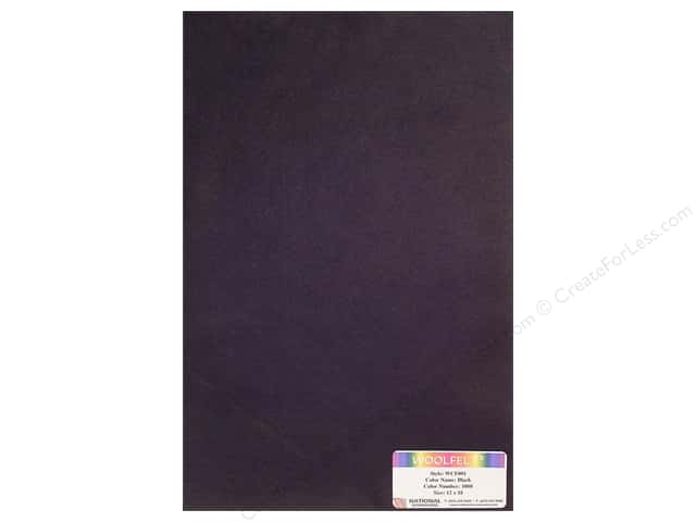 National Nonwovens 20% Wool Felt 12 x 18 in. Black