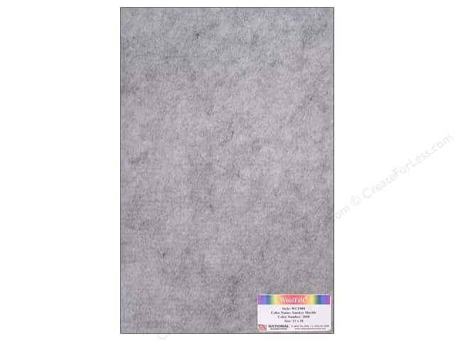 National Nonwovens 20% Wool Felt 12 x 18 in. Smokey Marble