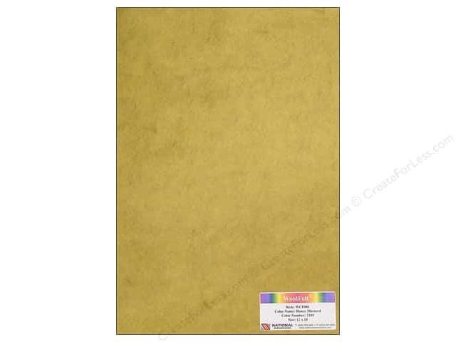 National Nonwovens 20% Wool Felt 12 x 18 in. Honey Mustard (10 sheets)
