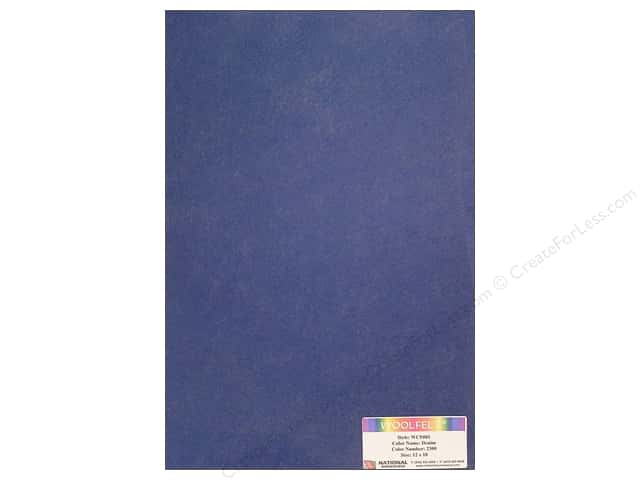 National Nonwovens 20% Wool Felt 12 x 18 in. Denim