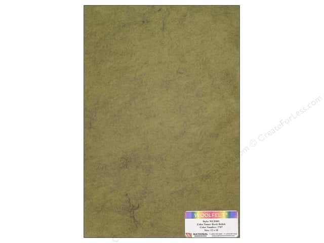 National Nonwovens 20% Wool Felt 12 x 18 in. Reets Relish