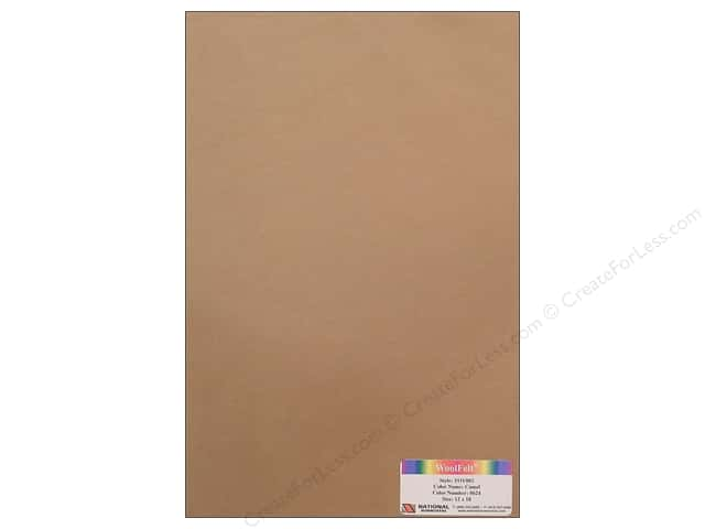 National Nonwovens WoolFelt 12 x 18 in. 35% Camel (10 sheets)
