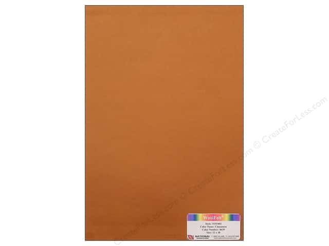 National Nonwovens WoolFelt 12 x 18 in. 35% Cinnamon (10 sheets)