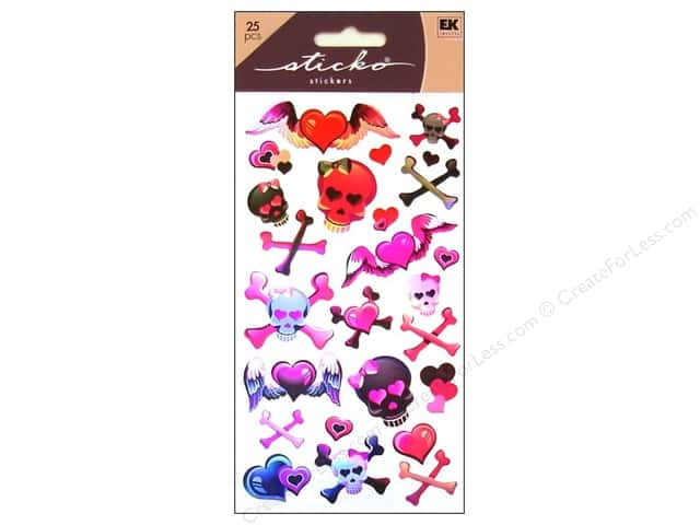 EK Sticko Stickers Girly Girl Skulls