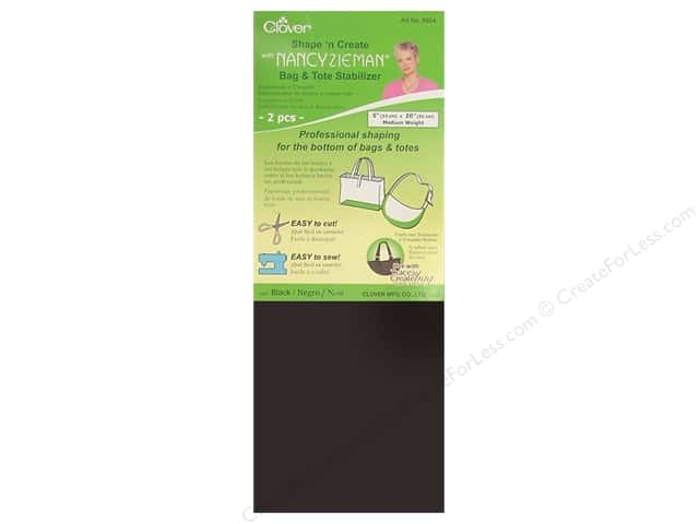 Clover Shape N Create with Nancy Zieman Bag & Tote Stabilizer 2 pc. Black