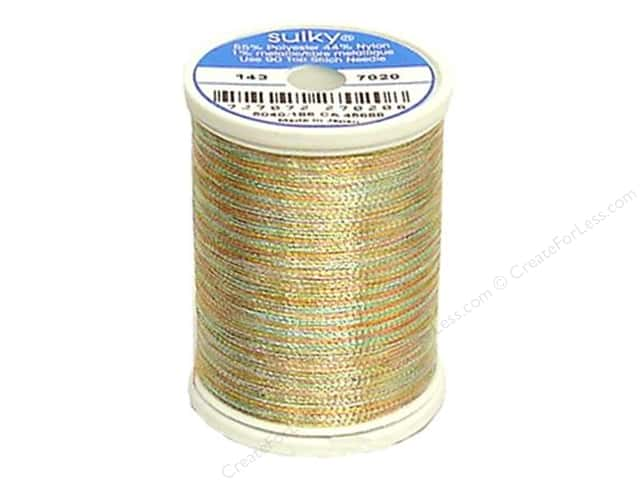 Sulky Original Metallic Thread 750 yd. #7020 Gold/Red/Green