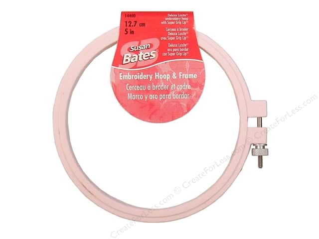 Susan Bates Plastic Embroidery Hoops 5 in. Pink