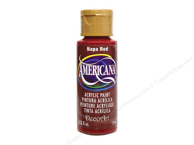 DecoArt Americana Acrylic Paint 2 oz. #165 Napa Red