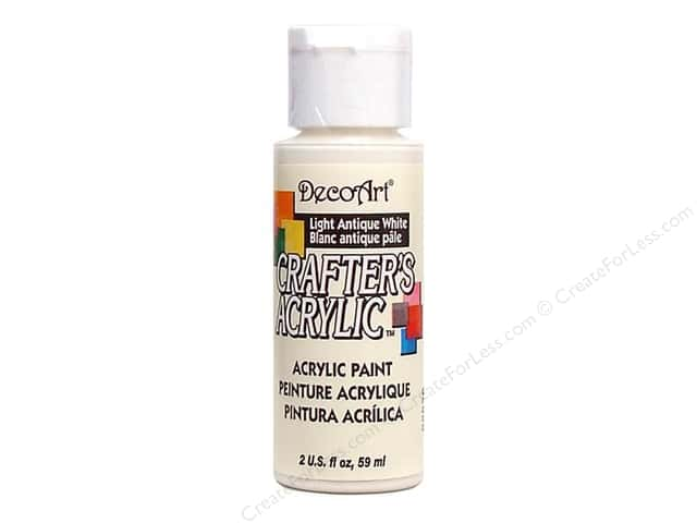 DecoArt Crafter's Acrylic Paint 2 oz. #2 Lt Antique White