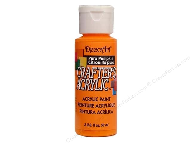 DecoArt Crafter's Acrylic Paint 2 oz. #8 Pure Pumpkin