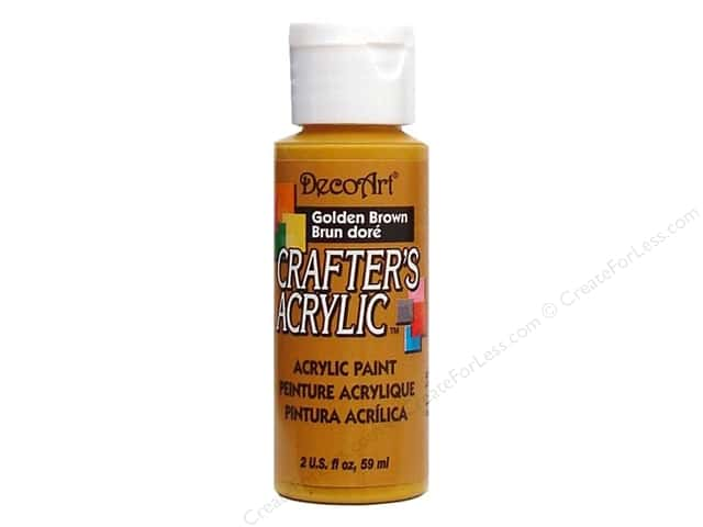 DecoArt Crafter's Acrylic Paint 2 oz. #6 Golden Brown
