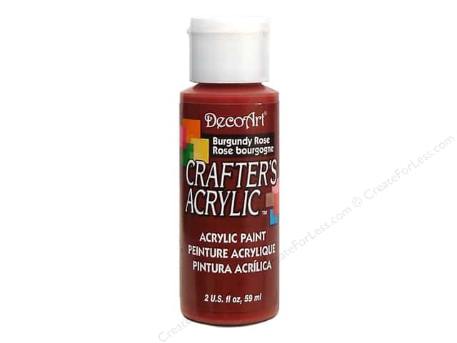 DecoArt Crafter's Acrylic Paint 2 oz. #19 Burgundy Rose