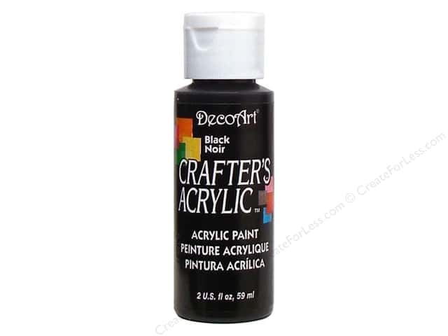 DecoArt Crafter's Acrylic Paint 2 oz. #47 Black