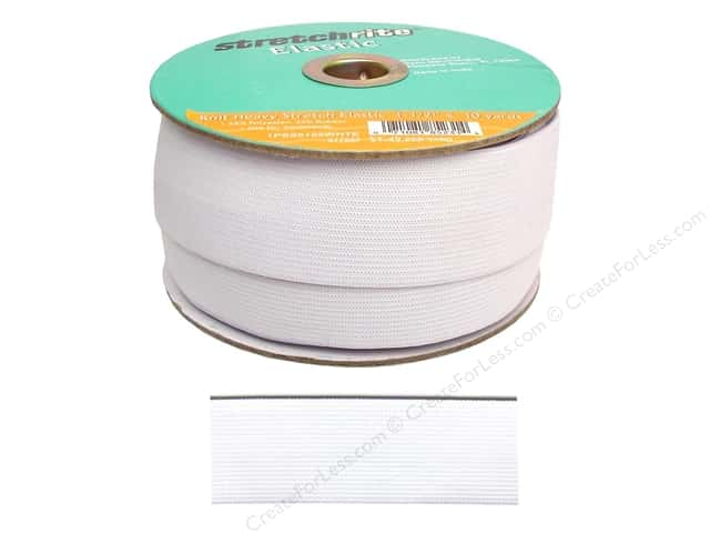 Stretchrite Elastic Heavy Stretch 1 1/2 in. x 10 yd White (10 yards)