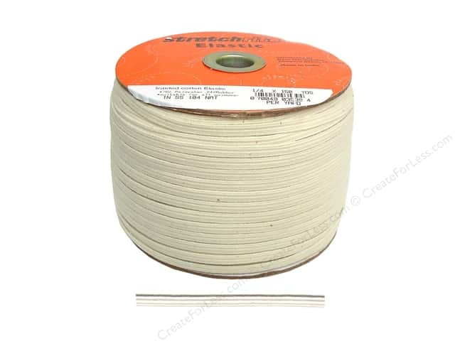 Stretchrite Cotton Swimwear Elastic 1/4 in. x 150 yd Natural (150 yards)