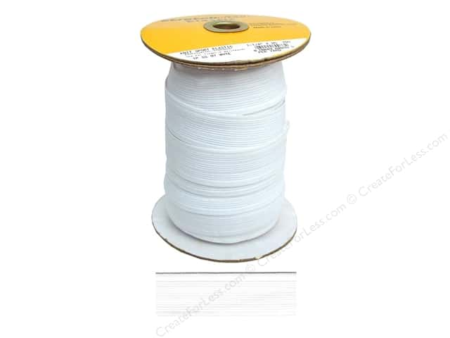 Stretchrite Knit Sport Elastic 1 1/4 in. x 25 yd White (25 yards)