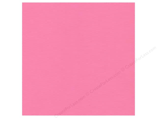 Bazzill 12 x 12 in. Cardstock Orange Peel Pink Fairy (25 sheets)