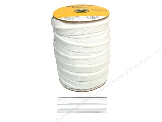 Stretchrite Knit Elastic Drawstring 1 1/4 in. x 25 yd. White (25 yards)