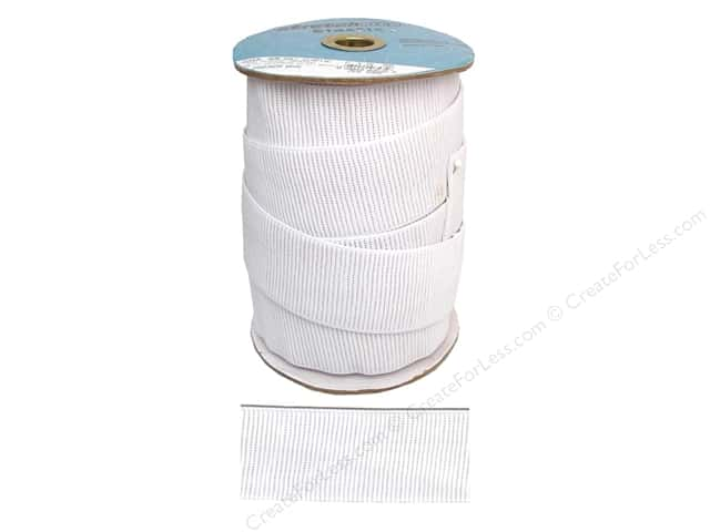 Stretchrite Non-Roll Ribbed Elastic 2 in. x 15 yd White (15 yards)