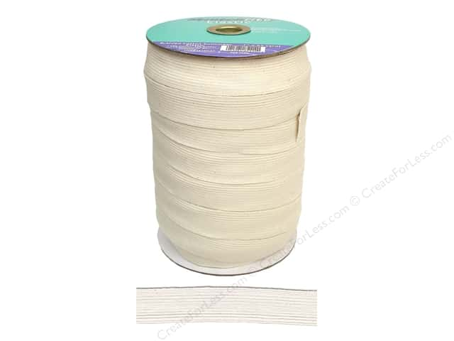 Stretchrite Cotton Swimwear Elastic 1 in. x 65 yd Natural (65 yards)