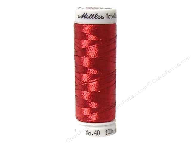 Mettler Metallic Thread 40 wt. 110 yd. #1723 Bright Rubin
