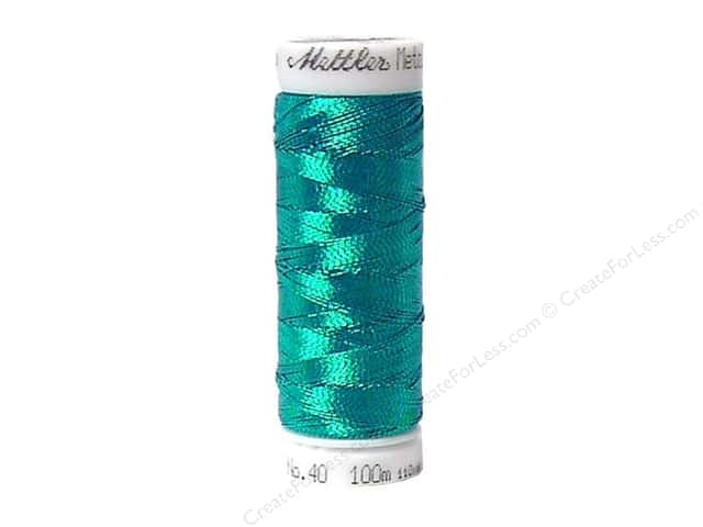 Mettler Metallic Thread 40 wt. 110 yd. #4101 Bright Turquoise