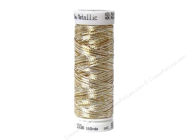 Mettler Metallic Thread 40 wt. 110 yd. #9924 Gold and Silver