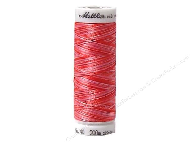 Mettler PolySheen Embroidery Thread 220 yd. #9405 Variegated Strawberry