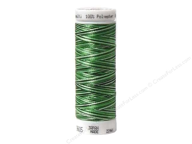 Mettler PolySheen Embroidery Thread 220 yd. #9805 Variegated Field Greens