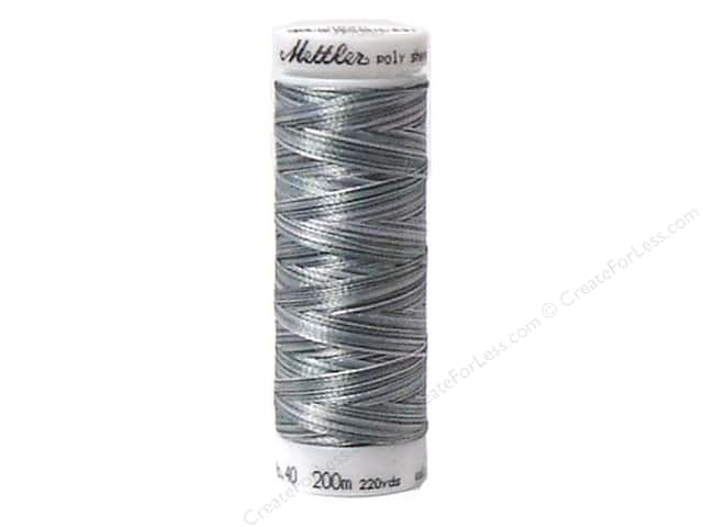 Mettler PolySheen Embroidery Thread 220 yd. #9920 Variegated Over Grey